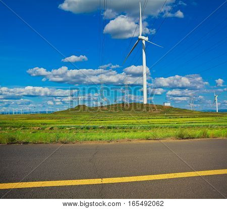 Eco sustainable friendly power generation wind power generator on the prospect of dual carriageway road