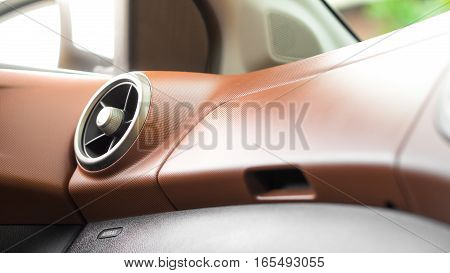 Car panel and car air conditioner system concept - Vintage car console panel and car air condition outlet