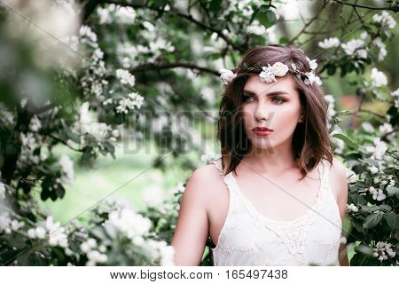 Perfect Woman Fashion Model Outdoors. Health and Beauty Concept