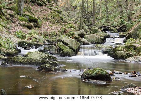 Burbage Brook at Padley Gorge, Peak District, UK