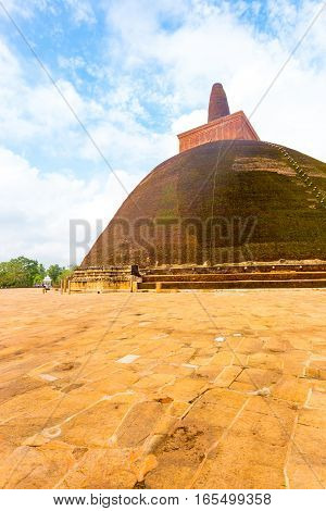 Anuradhapura Abhayagiri Stupa Copy Space Off Axis