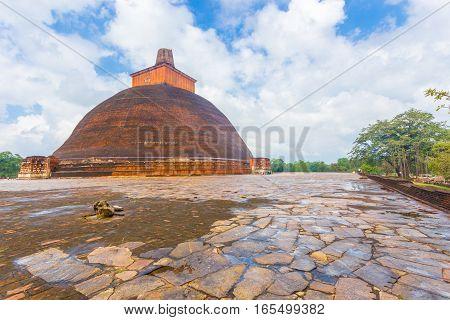 Anuradhapura Jetavanaramaya Stupa Wet Base Edge