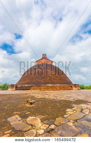 Anuradhapura Jetavanaramaya Stupa Centered Corner