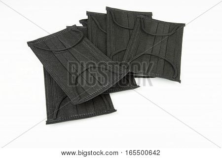 Black surgical mask. Medical concept. Stock image.