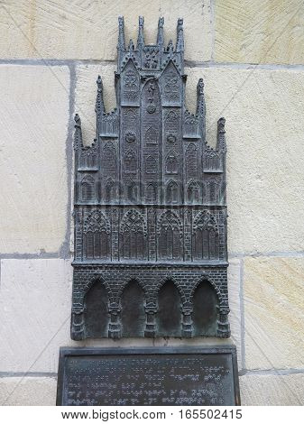 Bronze Image Of Townhall