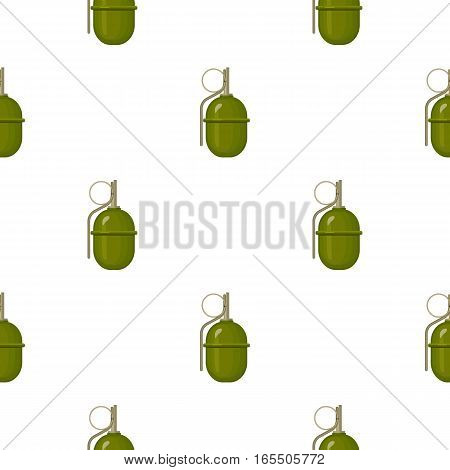 Military grenade icon in cartoon style isolated on white background. Military and army pattern vector illustration