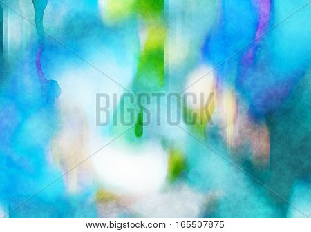 A digitally painted watercolour blue background texture effect.