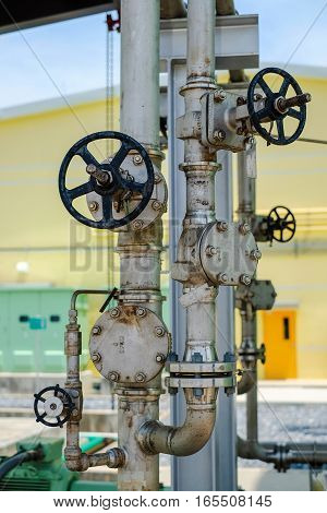 Pressure gauge, valves and instrument in power plant