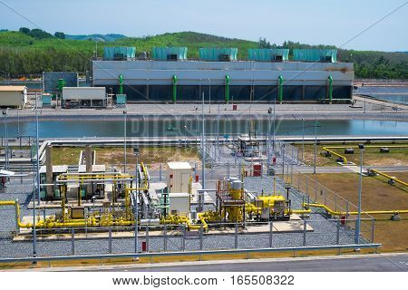 Gas Heater Station In Power Plant