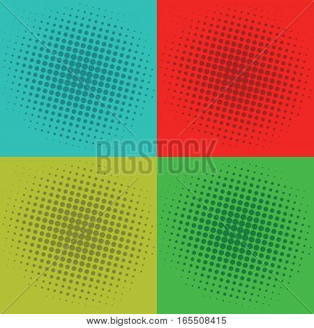Pop Art Squares Background Vector Template Design