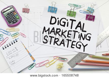 Digital marketing strategy business concept in office