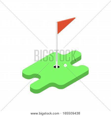 Game of golf . Vector illustration .