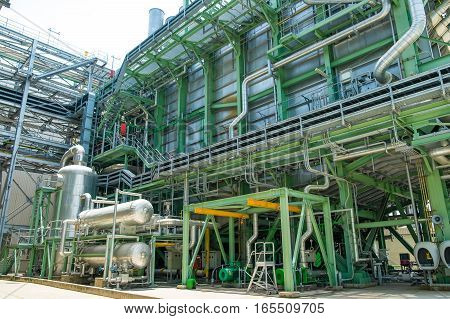 Steam Piping With Thermal Insulation In Boiler Of Power Plant