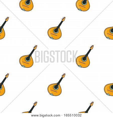 Italian mandolin icon in cartoon style isolated on white background. Italy country pattern vector illustration.