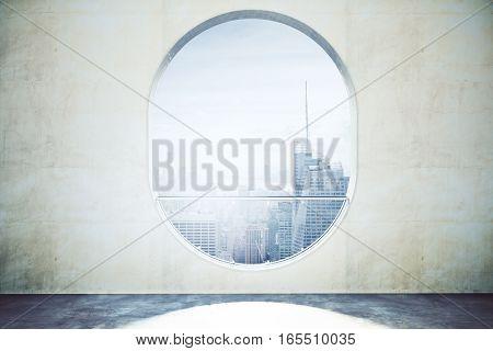 Abstract Concrete Interior