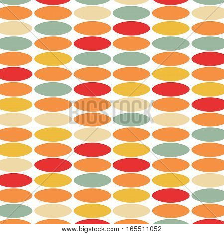 Stylish vintage background from colored circles. Vector illustration .