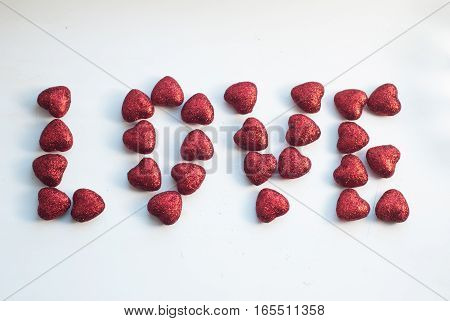 Red Heart On The Topic Of Love And Valentine Concept Background,