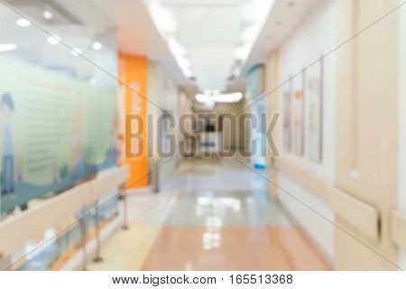 Blurred background : Vintage filter patient waiting for see doctor.