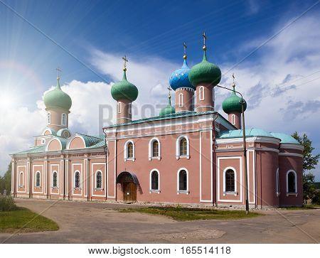 Tikhvin Assumption Monastery a Russian Orthodox (Tihvin Saint Petersburg region Russia)