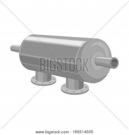 Water filter machine icon in monochrome design isolated on white background. Water filtration system symbol stock vector illustration.