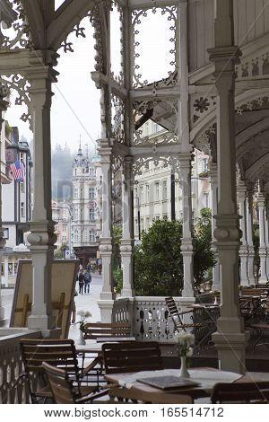 Sadova Colonnade(Garden colonnade end of the XIX century) Karlovy Vary (Carlsbad) Czech Republic