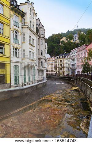 Karlovy Vary (Carlsbad) Tepla river. Czech Republic.
