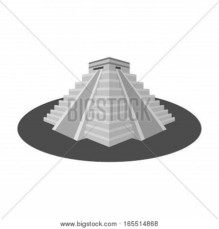 Chichen Itza icon in monochrome design isolated on white background. Countries symbol vector illustration.