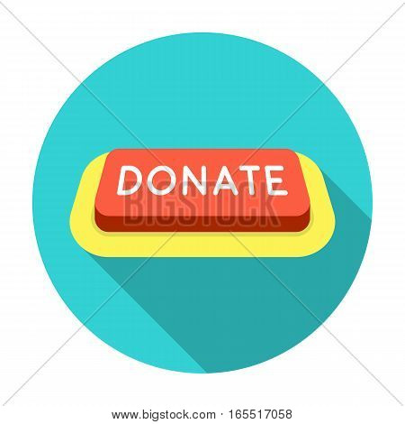 Donate button icon in flat design isolated on white background. Charity and donation symbol stock vector illustration.