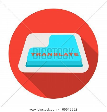 Translate button icon in flat design isolated on white background. Interpreter and translator symbol stock vector illustration. poster