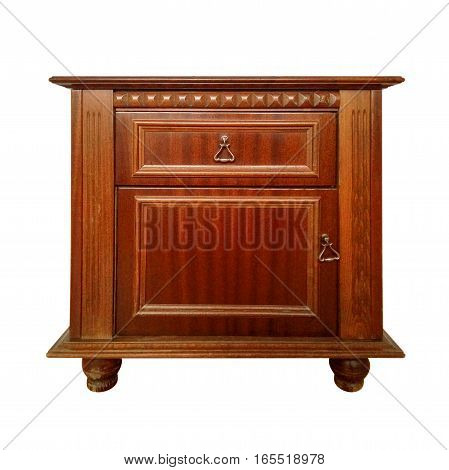 Bedside table isolated on white with Clipping path