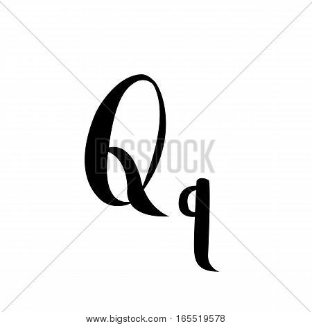 Letter  alphabet calligraphy. Handwritten calligraphy samples  Letter vector