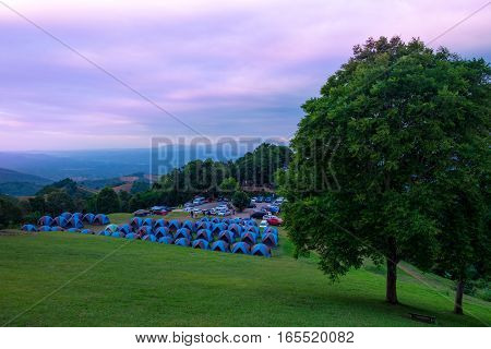 Camping grounds Doi Samer Dow from National Park sri nan from nan provinceThailand
