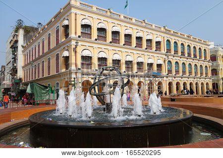 Senado Square Or Senate Square At Macau