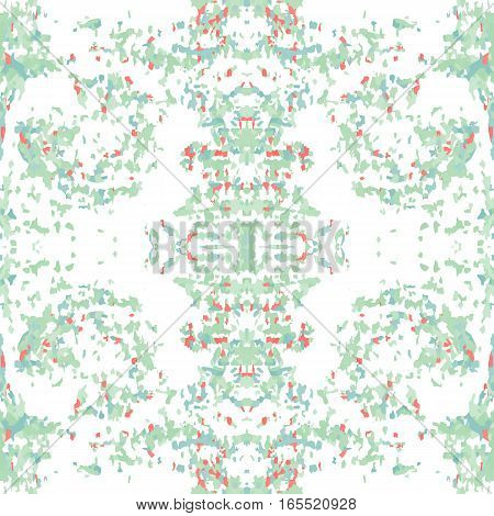 Seamless nature pattern. Stone, snake skin, band view mosaic motley texture. Ornamental collage. Green, rose, white soft colored background. Vector