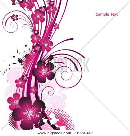 Schönheit rosa Blumenmuster