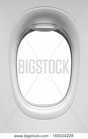 the airplane window isolated on white background