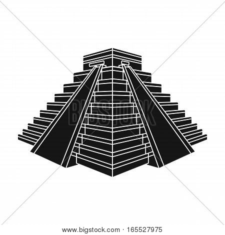 Chichen Itza icon in black design isolated on white background. Countries symbol vector illustration.