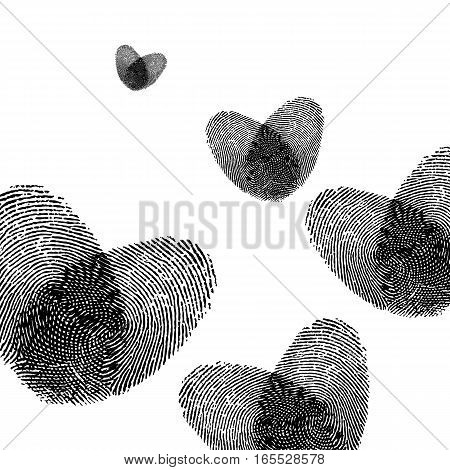 print finger fingerprint vector crime identity thumb thumbprint unique security