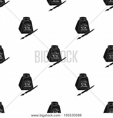 Easel with masterpiece icon in Black style isolated on white background. Artist and drawing pattern vector illustration.