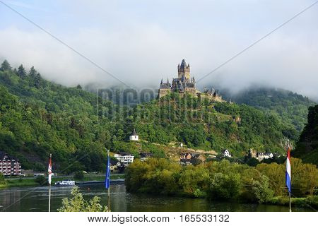 Castle Reichsburg in Cochem Germany on the Mosel river.