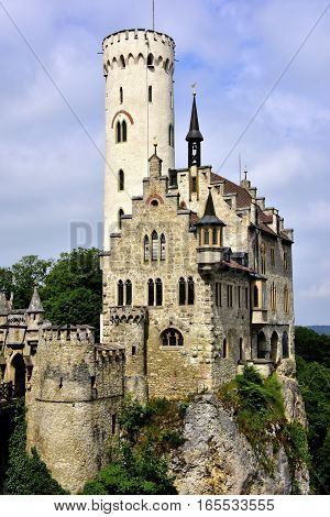Llichtenstein Castle built on a boulder in Germany.