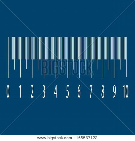 Measuring scale with numbers. Stock vector illustration.