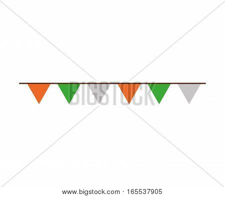 decorative garland isolated icon vector illustration design