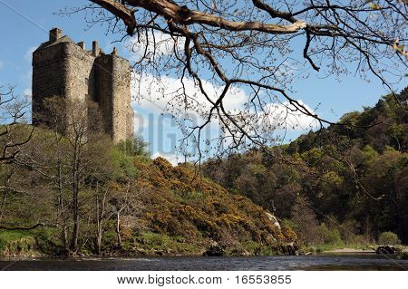 Neidpath Castle near Peebles in Scotland