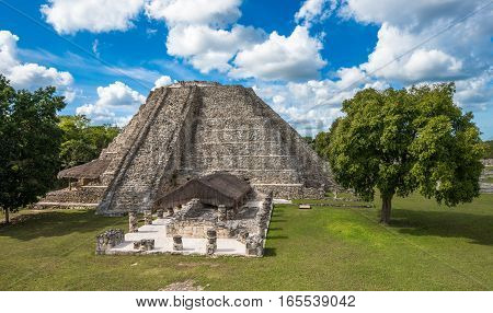 Mayapan ancient ruins in Yucatan peninsular Mexico
