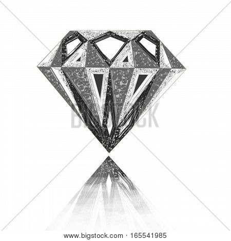 diamond symbol. Diamond illustration in a flat style. faceted gem
