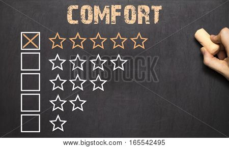 Best Comfort Five Golden Stars.chalkboard