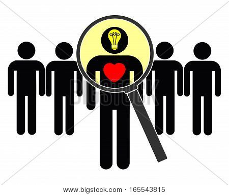 Searching for Mind and Heart. Looking for a person with social skills and intellect at work or privately