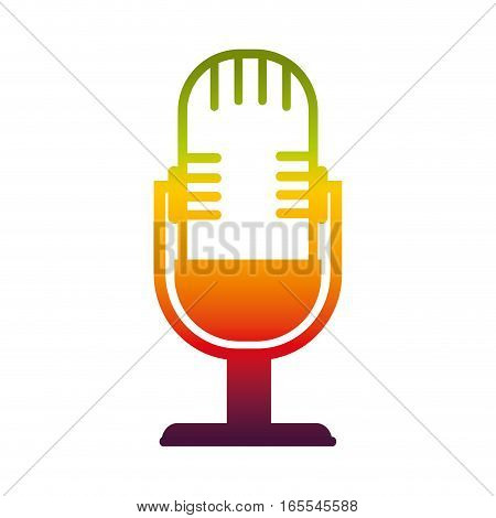 microphone sound device icon vector illustration design