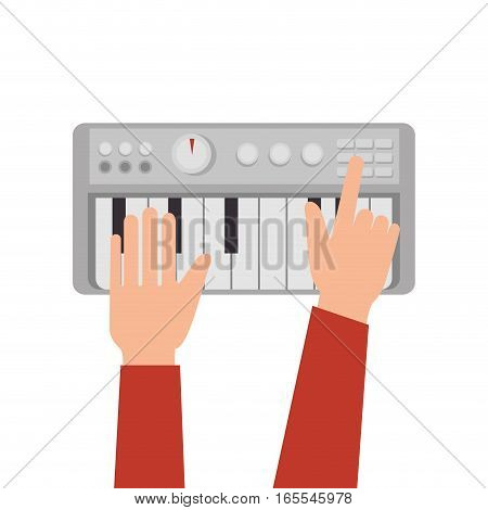 synthesizer audio device icon vector illustration design